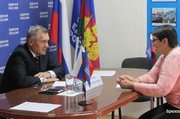 Депутат ЗСК Николай Гриценко ответил на вопросы брюховчан