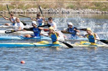 В Староминской прошли краевые соревнования по гребле на байдарках и каноэ