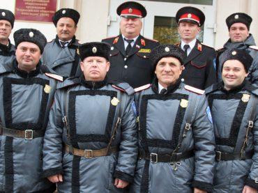 Казачья дружина Брюховецкого районного казачьего общества отметила пятилетний юбилей.