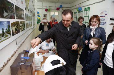 Вениамин Кондратьев проголосовал на выборах Президента РФ