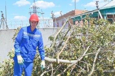 Последствия грозового фронта в Брюховецкой ликвидированы