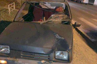 «Ока» сбила пешехода на перекрестке в станице Брюховецкой