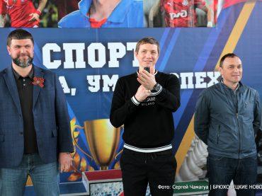«Мне помогла любовь к футболу и мечта попасть в «Спартак»: Роман Павлюченко посетил Брюховецкую