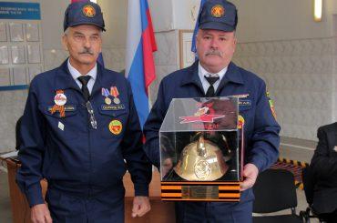 В Батуринской приняли эстафету «Пожарная каска»