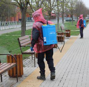 В Брюховецком районе приступили к дезинфекции улиц