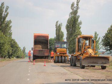 В населенных пунктах ремонтируют дороги