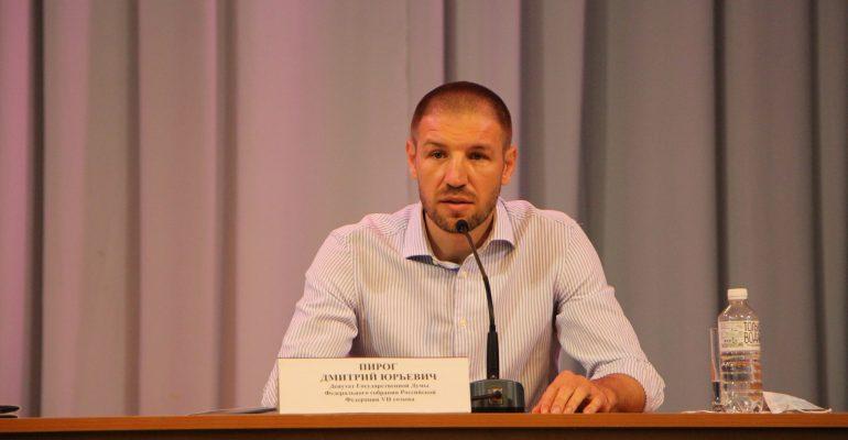 Депутат государственной Думы Дмитрий Пирог посетил Брюховецкий район с рабочим визитом