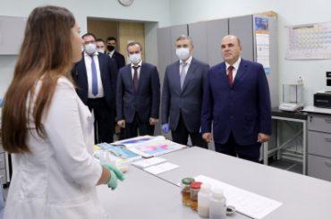 Мишустин прибыл в Кубанский госуниверситет и оценил разработки молодых учёных