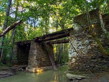 Мост через реку Афипс — место, полное тайн и загадок